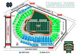 Fenway Park Seating Map Nov 21 Boston College Archive Irish Envy Notre Dame