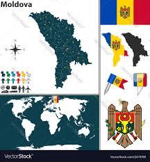 Moldova Map Chisinau U0026 Icon Vector Images 34