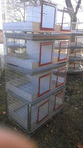 Stackable Rabbit Hutches 8 Holes Apartment Cage