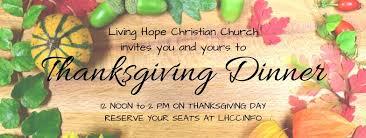 thanksgiving dinner at lhcc living christian church