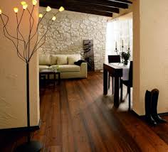 Wood Flooring Ideas For Living Room Brown Rustic Wood Flooring Ideas Combined With Black Accents