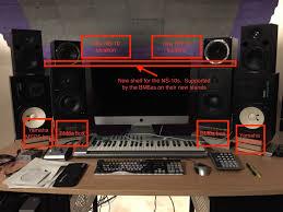 Desk Studio Monitor Stands by Diy Desk Speaker Stands Help Please Gearslutz Pro Audio Community