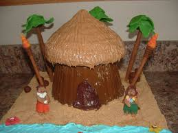 How To Make Tiki Hut Luau Tiki Hut Cake Cakecentral Com