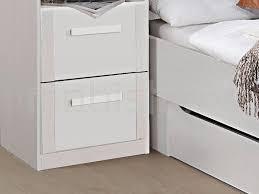 fabriquer tiroir sous lit lit pont riga 140x190 cm blanc sans tiroir chez mobistoxx