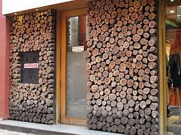the stylishness of walls of stacked logs
