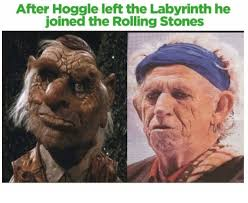 Labyrinth Meme - after hoggle left the labyrinth he joined the rolling stones
