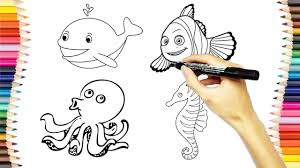 shark coloring pages kids draw color shark educational