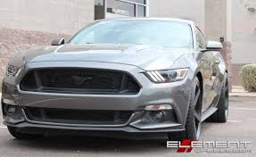 Matte Black Ford Mustang 20 Inch Staggered Rohana Rc22 Matte Black On 2015 Ford Mustang Gt