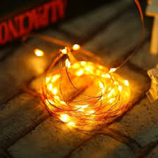 ywxlight 5m led lights battery powered copper wire