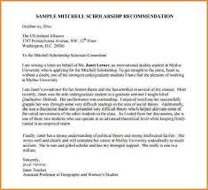 12 sample recommendation letter for student scholarship