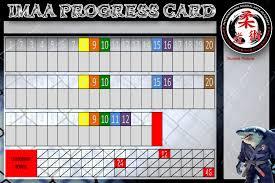 customizable progress attendance cards