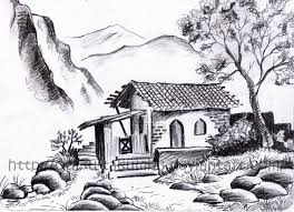pencil drawing scenery easy easy pencil drawings of nature 1 x 1