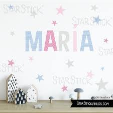 sticker pour chambre bébé prénom couleur stickers pour chambre bébé ou enfant