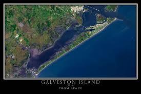 galveston island map galveston island satellite poster map terraprints com