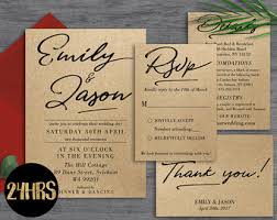 rustic wedding invitation templates rustic wedding invitation template etsy