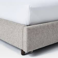 contemporary upholstered storage bed deco weave west elm uk