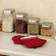 kitchen glass canisters glass kitchen containers stylish food storage containers for the
