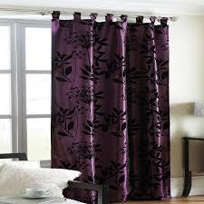 Purple Design Curtains Purple Curtains At Plum Printed Flock Design