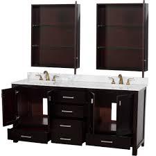 24 inch teak modern bathroom vanity with medicine cabinet benevola