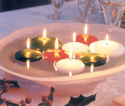 fall wedding centerpieces floating candles