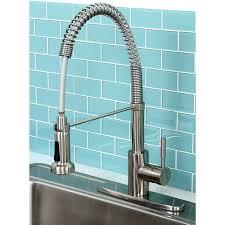 overstock kitchen faucets kingston brass concord modern satin nickel spiral pulldown kitchen