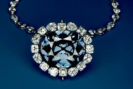 red gem necklace images Bombarded with ultraviolet light the blue hope diamond glows red jpg