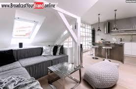 Wohnzimmer Skandinavisch Wohnzimmer Mit Küche Grau Metall Oberflächen Skandinavisch Youtube