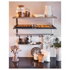 open shelf kitchen ideas cabinets u0026 storages stainles steel wall open shelves jar glass