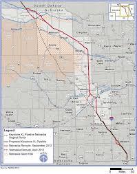 keystone xl pipeline map nebraska farmers dismayed by governor s endorsement of
