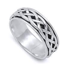 design silver rings images Men 8mm 925 sterling silver ring celtic design spinner wedding jpg