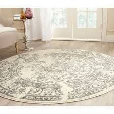 White Round Rugs Off White Round Oval U0026 Square Area Rugs Shop The Best Deals For