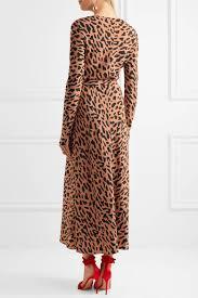 dvf wrap dress diane furstenberg leopard print silk crepe de chine wrap