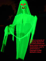 Halloween Monster House Giant Uv Haunted House Halloween Phantom Ghost Prop Green Skeleton