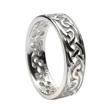 silver wedding bands celtic wedding rings ls wed93
