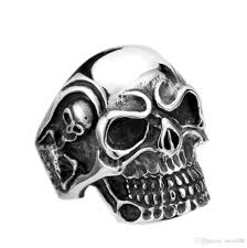 cool skull rings images Drop ship big punk biker skull ring for man stainless steel unique jpg