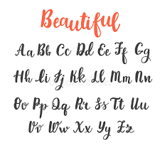 calligraphy font draw alphabet uppercase and lowercase letters calligraphy