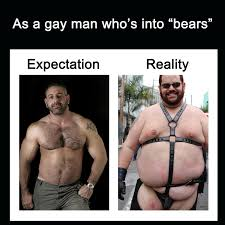 Gay Bear Meme - every time i walk in a gay bar imgur