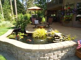 Making A Backyard Pond Above Ground Fish Pond Containers Round Designs