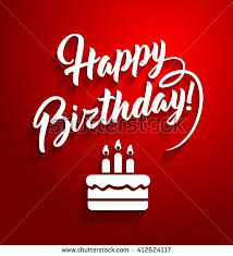 birthday wishes templates happy birthday lettering text on stock vector 412624117