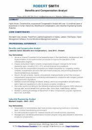 Kronos Resume Compensation Analyst Resume Samples Qwikresume