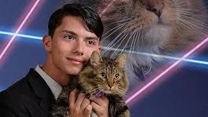 Laser Meme - teenage laser cat meme creator passes away