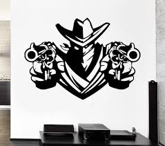 online get cheap wall decals weapons aliexpress com alibaba group removable wall decal cowboy bandit revolver pistols weapons shawl vinyl decal home decor art vinyl wall mural paper