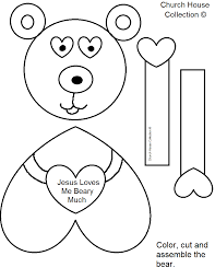 bear valentine craft jesus loves you beary much