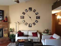 creative living room wall decor ideas makeovers decorative clock