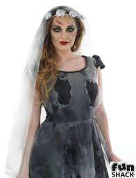 Corpse Bride Halloween Costume Black Corpse Ghost Bride Costume Ladies Halloween Costumes