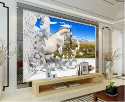 Wall Murals 3d Online Get Cheap Horse Wall Murals Aliexpress Com Alibaba Group