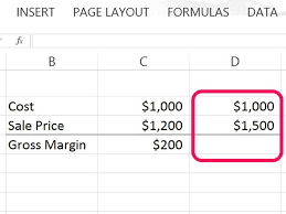 how to calculate gross profit margin using excel techwalla com