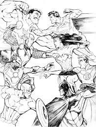 avengers vs justice league coloring page netart