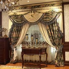 Rustic Curtains And Valances Chenille Material Window Coverings Curtains Are Luxurious Designed