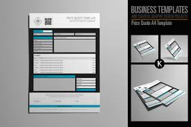 price quote a4 template by keboto thehungryjpeg com